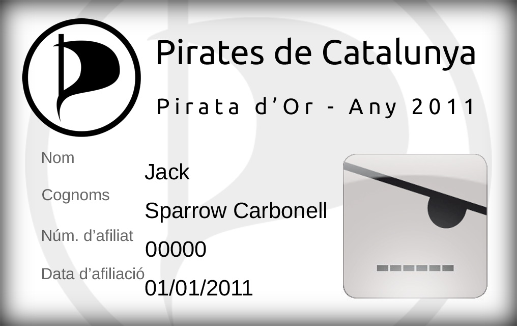 Carnet Pirata d'Or, anvers